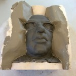3. smooth clay layer setting up mould of Shaun Wallace - ITV Ltd.