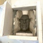 5. Plaster batts frame the first side: mould of Shaun Wallace - ITV Ltd.