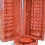 2 sides of Case for Bobble Lampbase -Grayshott Pottery