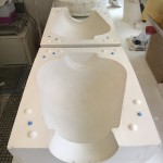 Round Urn mould open