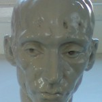 Head of bald man glazed - Kevin Francis Gray