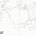 Global Homewares Teapot drawing elevation - Graham Meeson