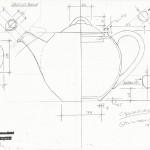 Global Homewares Teapot drawing elevation - Graham Meeson