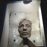 "Mould being made from Clay sculpture of 'Boy"" - Kevin Frances Gray"