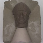 Head of Bishop Odo being blocked from a clay model in three parts